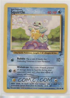 2000 Pokemon Base Set 2 - Reprint Set #93 - Squirtle