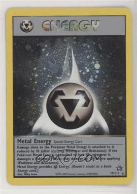 2000 Pokemon Neo Genesis - [Base] - 1st Edition #19 - Metal Energy
