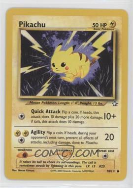 2000 Pokemon Neo Genesis - [Base] - Unlimited #70 - Pikachu [Noted]