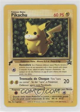 2000 Pokemon Pikachu World Collection - Promos #1 - Pikachu (Portuguese - Ivy Background)