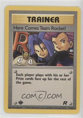 2000 Pokemon Team Rocket - Booster Pack [Base] - 1st Edition #71 - Here Comes Team Rocket!