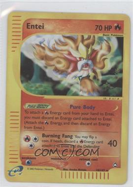 2003 Pokemon Aquapolis - Booster Pack [Base] - Reverse Foil #10 - Entei