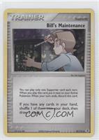 Bill's Maintenance