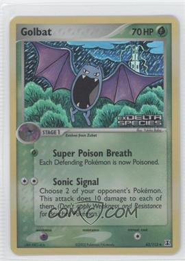 2005 Pokémon EX Delta Species - Booster Pack [Base] - Reverse Foil #43 - Golbat