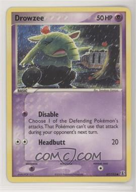 2005 Pokémon EX Delta Species - Booster Pack [Base] #67 - Drowzee