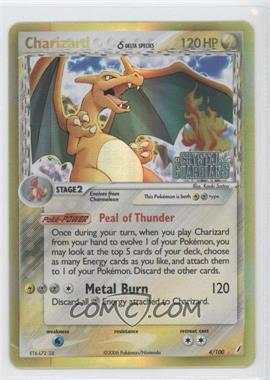 2006 Pokémon EX Crystal Guardians - Base Set - Reverse Foil #4 - Charizard