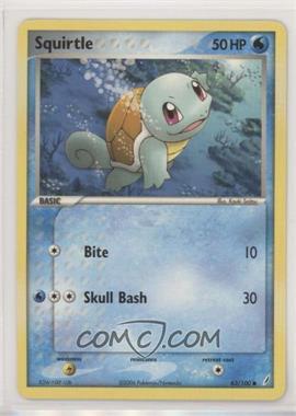 2006 Pokémon EX Crystal Guardians - Base Set #63 - Squirtle