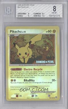 2008-2009 Pokemon Burger King - Toy Promos [Base] #94 - Pikachu [BGS 8]
