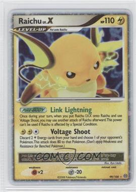 2008 Pokémon Stormfront - Booster Pack [Base] #99 - Raichu LV.X