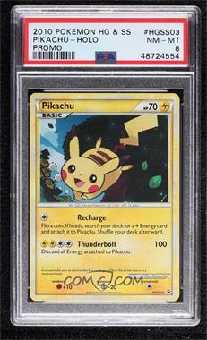 2010-2011 Pokémon HeartGold & SoulSilver - Black Star Promos [Base] #HGSS03 - Pikachu [PSA8NM‑MT]