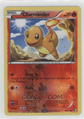2012 Pokémon Boundaries Crossed - Base Set - Reverse Foil #18 - Charmander