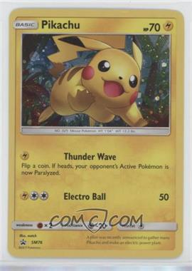 2016-2021 Pokémon Sun & Moon - Black Star Promos [Base] #SM76 - Pikachu (Holo) [Noted]