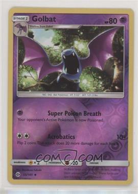 2017 Pokémon Sun & Moon - Base Set - Reverse Foil #55 - Golbat