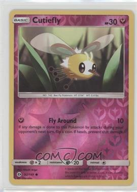 2017 Pokémon Sun & Moon - Base Set - Reverse Foil #92 - Cutiefly