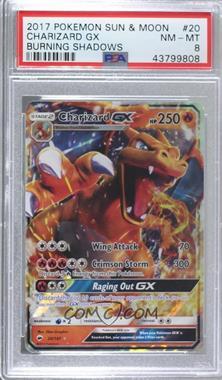 2017 Pokémon Sun & Moon - Burning Shadows [Base] #20 - Charizard GX [PSA8NM‑MT]