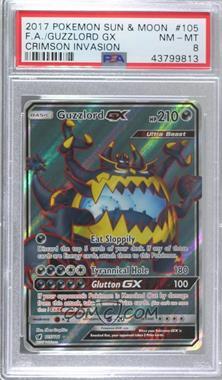 2017 Pokémon Sun & Moon - Crimson Invasion - Base Set #105 - Guzzlord GX [PSA8NM‑MT]