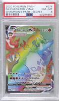 Charizard VMAX (Secret Rainbow Holo) [PSA8NM‑MT]