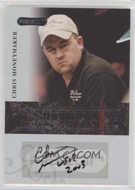 2006 Razor Poker - Showdown Signatures - [Autographed] #A-29 - Chris Moneymaker