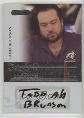 2006 Razor Poker - Showdown Signatures - [Autographed] #A-32 - Todd Brunson