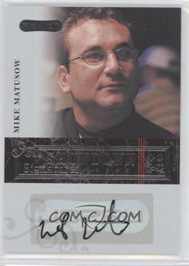 2006 Razor Poker - Showdown Signatures - [Autographed] #A-34 - Mike Matusow