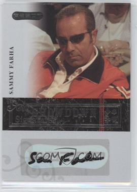 2006 Razor Poker - Showdown Signatures - [Autographed] #A-36 - Sammy Farha