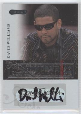 2006 Razor Poker - Showdown Signatures - [Autographed] #A-7 - David Williams