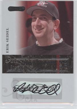 2006 Razor Poker - Showdown Signatures - [Autographed] #A-9 - Erik Seidel