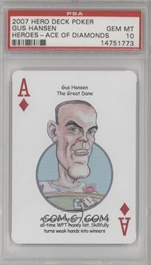 2007 Hero Decks Poker Heroes Playing Cards - [Base] #AD - Gus Hansen [PSA10GEMMT]