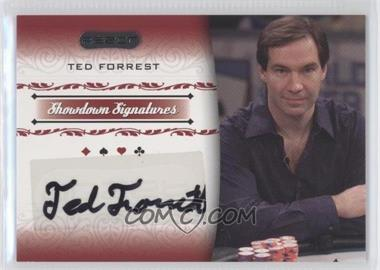 2007 Razor Poker - Showdown Signatures #SS-12 - Ted Forrest