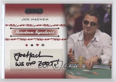 2007 Razor Poker - Showdown Signatures #SS-16 - Joe Hachem