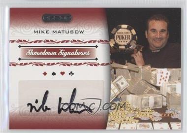 2007 Razor Poker - Showdown Signatures #SS-28 - Mike Matusow