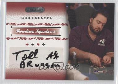 2007 Razor Poker - Showdown Signatures #SS-3 - Todd Brunson