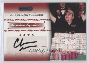 2007 Razor Poker - Showdown Signatures #SS-31 - Chris Moneymaker