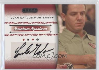 2007 Razor Poker - Showdown Signatures #SS-32 - Juan Carlos Mortensen