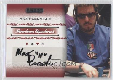 2007 Razor Poker - Showdown Signatures #SS-37 - Max Pescatori