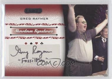 2007 Razor Poker - Showdown Signatures #SS-38 - Greg Raymer