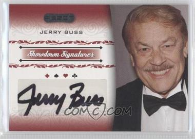 2007 Razor Poker - Showdown Signatures #SS-4 - Jerry Buss