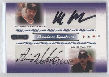 2007 Razor Poker - Showdown Signatures #SS-53 - Howard Lederer, Amir Vahedi