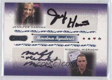 2007 Razor Poker - Showdown Signatures #SS-58 - Jennifer Harman, Michael Mizrachi