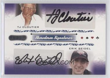 2007 Razor Poker - Showdown Signatures #SS-64 - Tj Cloutier, Erik Seidel