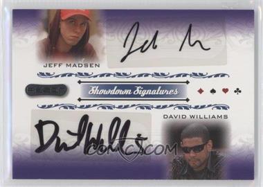 2007 Razor Poker - Showdown Signatures #SS-66 - Jeff Madsen, David Williams