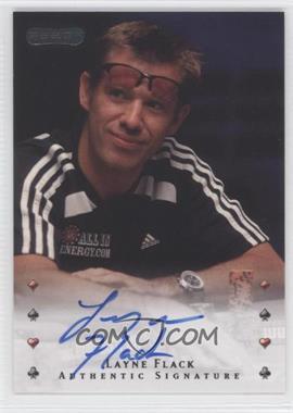 2010 Razor Poker - [Base] - [Autographed] #27 - Layne Flack