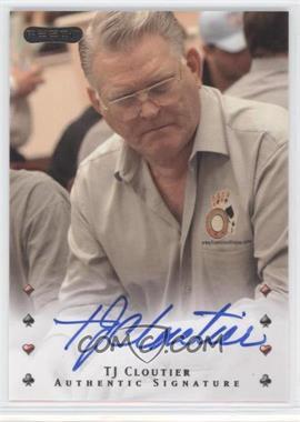 2010 Razor Poker - [Base] - [Autographed] #40 - Tj Cloutier