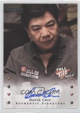 2010 Razor Poker - [Base] - [Autographed] #8 - David Chiu
