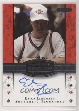 2010 Razor Poker - Bracelet Winner Signatures - [Autographed] #BH-15 - Erick Lindgren