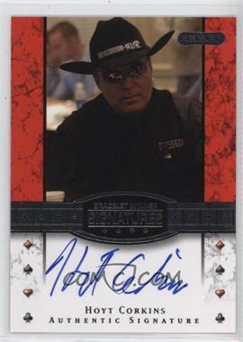 2010 Razor Poker - Bracelet Winner Signatures - [Autographed] #BH-16 - Hoyt Corkins