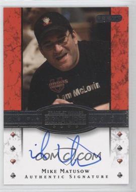 2010 Razor Poker - Bracelet Winner Signatures - [Autographed] #BH-23 - Mike Matusow