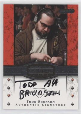 2010 Razor Poker - Bracelet Winner Signatures - [Autographed] #BH-27 - Todd Brunson
