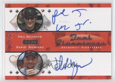 2010 Razor Poker - Dual Signatures - [Autographed] #DS-3 - Phil Hellmuth, Daniel Negreanu /50