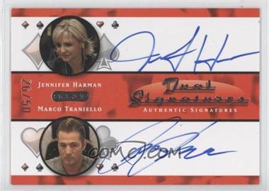 2010 Razor Poker - Dual Signatures - [Autographed] #DS-5 - Jennifer Harman, Marco Traniello /50